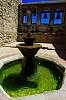 Mission San Juan Capistrano, courtyard and fountain.