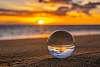 Sunset through a lensball