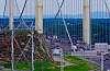 Laporte Suspension Bridge, Quebec City, CANADA.