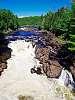 Low summer discharge, Batiscan River, CANADA.