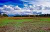 Manure spreading season on cropped fields.