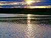 Sundown along the Saint Lawrence, QUEBEC.