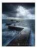 Storm over St Monans zigzagging pier