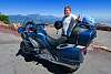 Motorcyclist along the Rim of the World, Southern California.