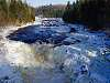 Wider view, freezing Batiscan River, CANADA