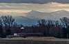 Jay Peak, VT view from St-Valentin, Montérégie, Québec, CANADA