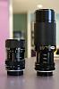 Tamron 75-250mm, Access 35-70mm f/2.5-3.5, Access 70-210mm f3.5, Kenlock 80-20