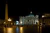 Night over St. Peter's Square in Rome