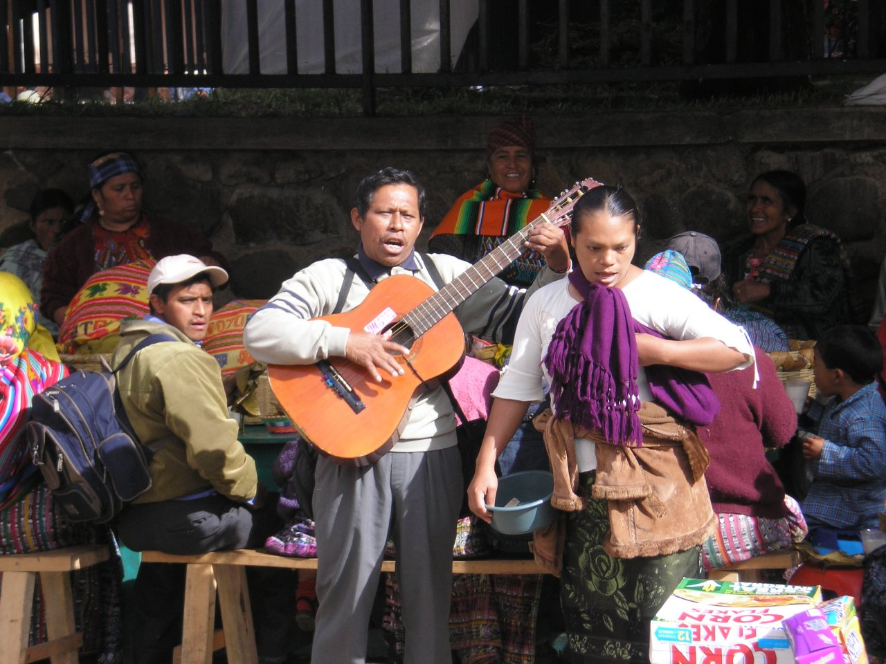Market Day Breakfast with music