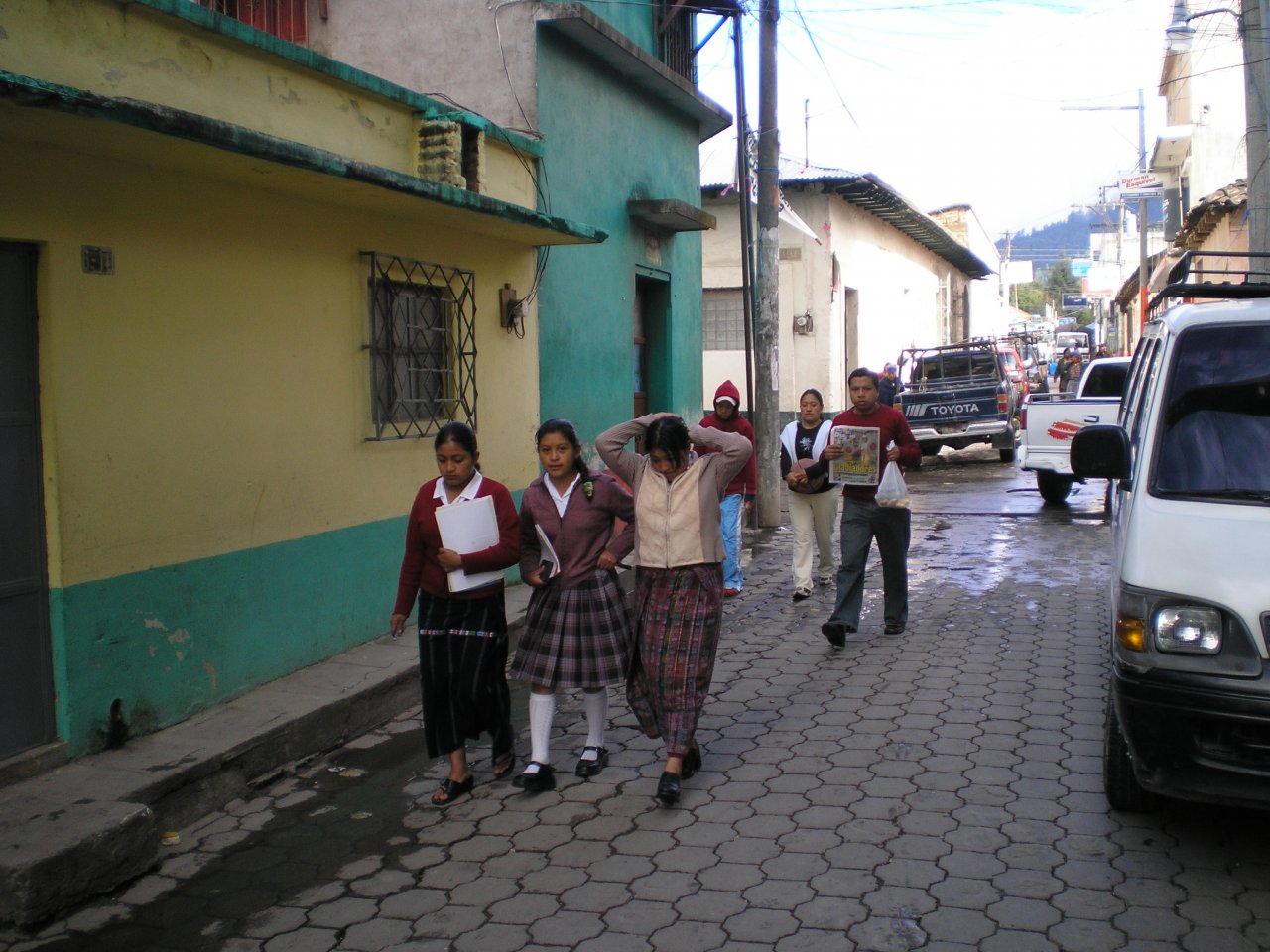 Totonicapan on way to school