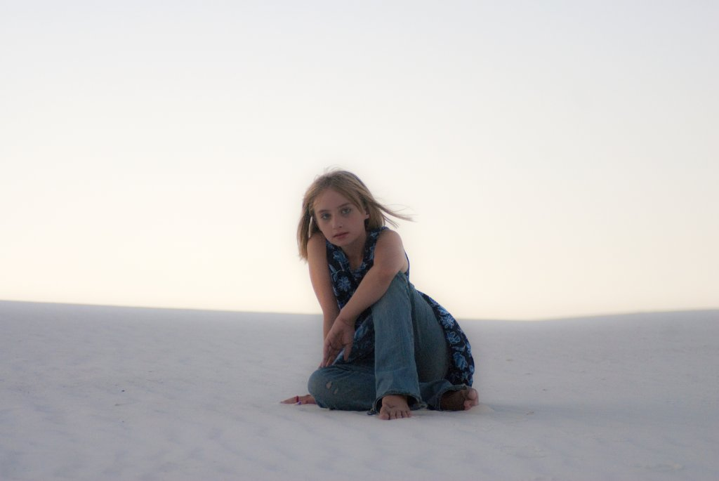 Portrait of my daughter Molly taken in 2006 at nearby White Sands National Monument.