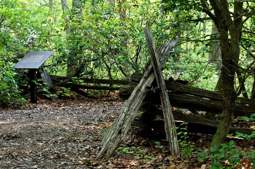 Chancellorsville trail fence