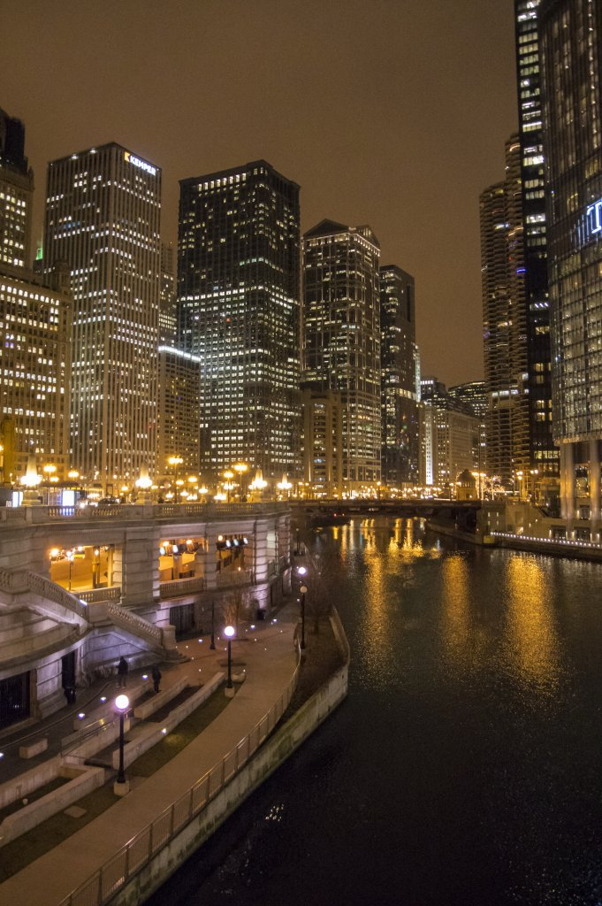 Chicago Night Scene