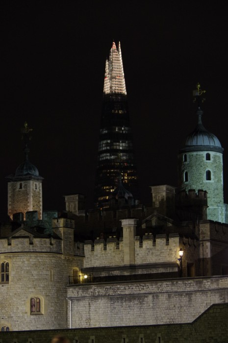 Shard building at night