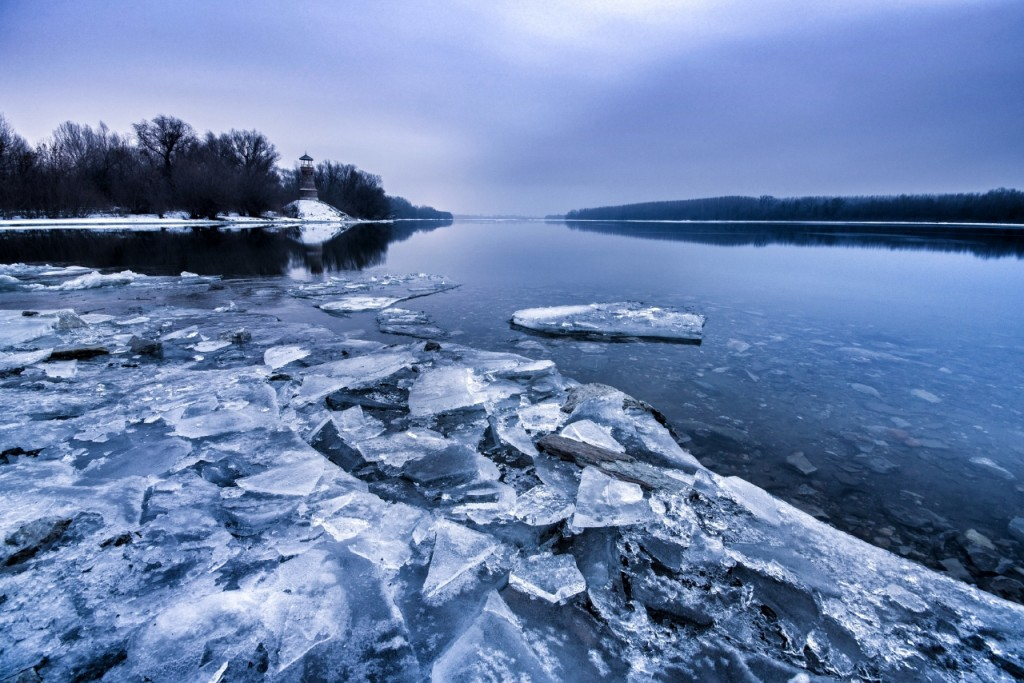 Ice at the confluence