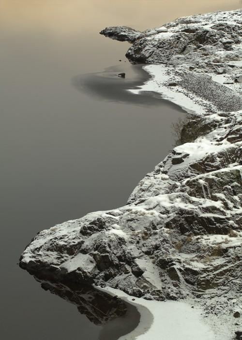 Wintry shoreline
