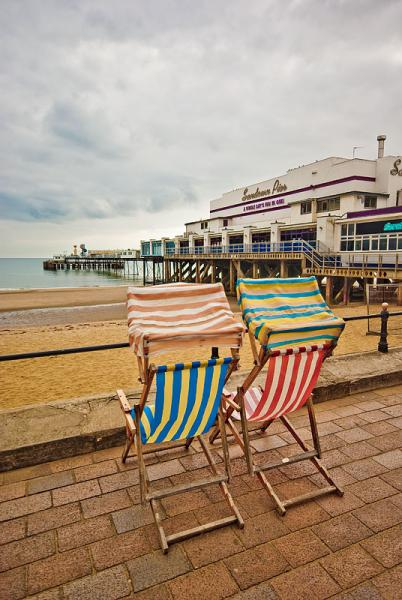 Deck Chairs and pier