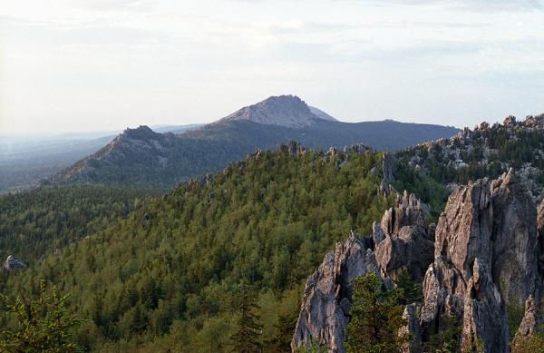 The Ural mountains. A ridge of Taganaj.