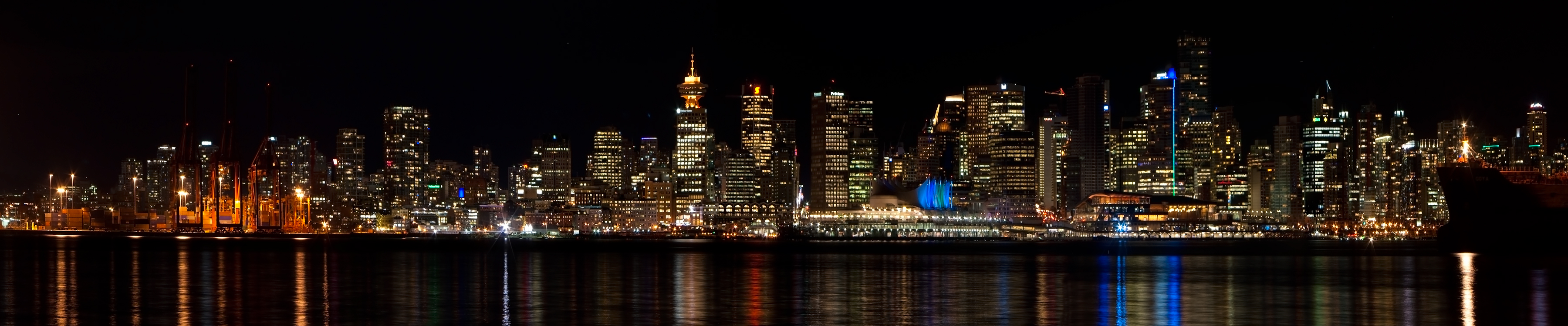 Vancouver Bc At Night 3rd Place Winner Pentax User Photo Gallery