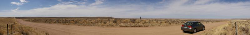 Panoramic view of Colorado's Sand Hills (180degree)