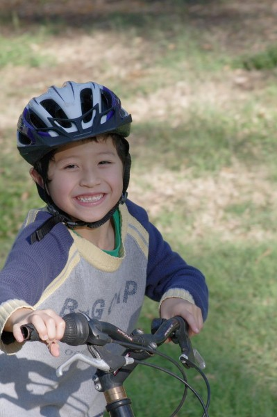 Young cyclist