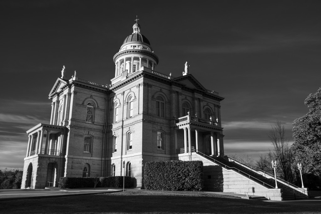 Placer County Courthouse in B&W