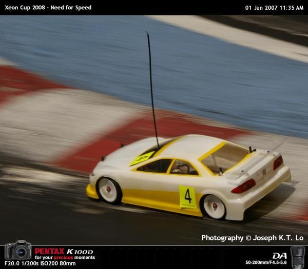 R/C Racing Panning Shot