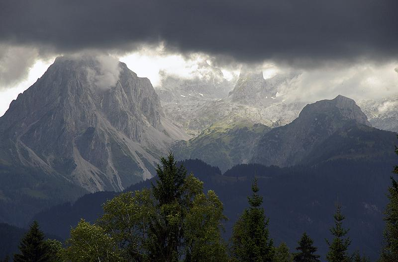 Storm coming up in the Austrian Alps