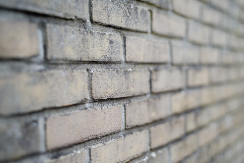 A brick wall seen by tilted lens (2)