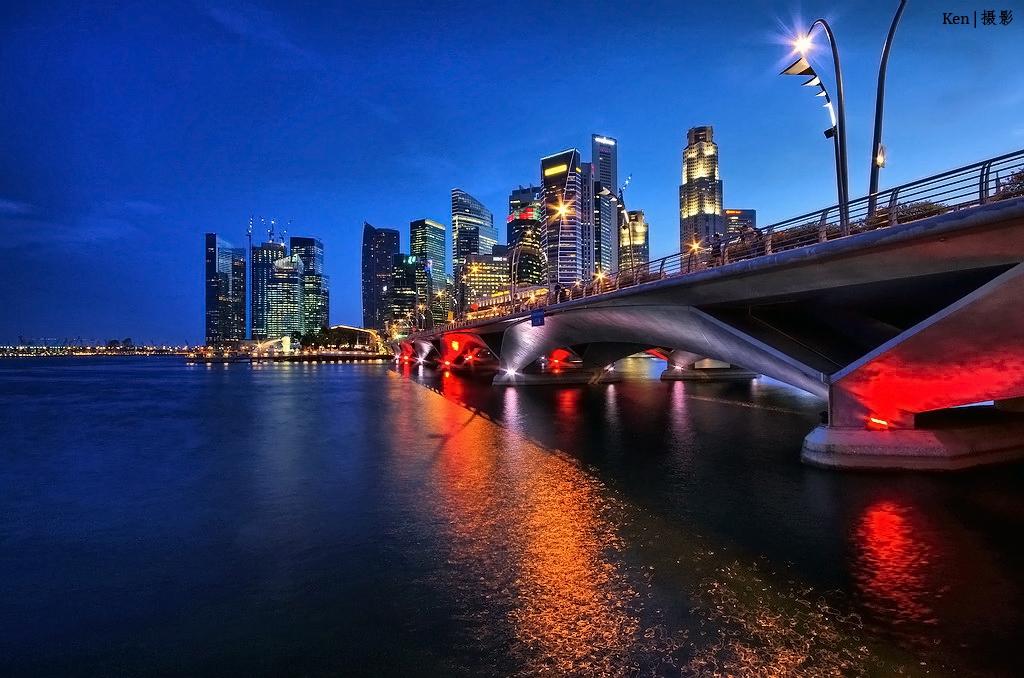 Singapore Skyline @Night