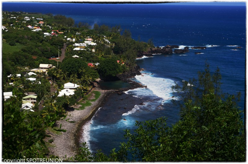 Manapany in the south of Reunion Island
