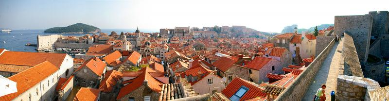 Old Dubrovnik, Croatia — View from the City Wall