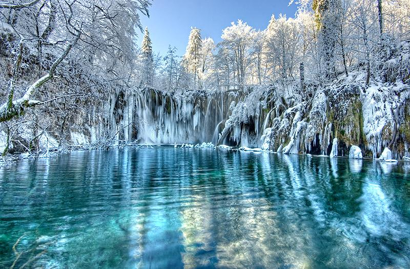 Winter in National park Plitvice