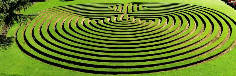 Garden Maze Cockington Green