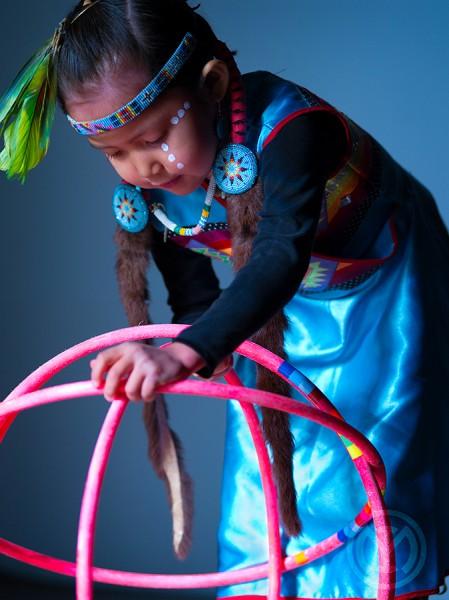 Young Hoop Dancer