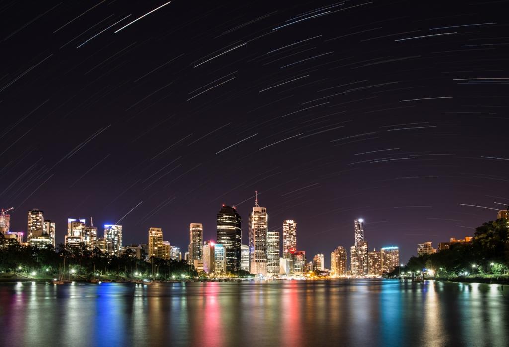 Brisbane City Star Trails