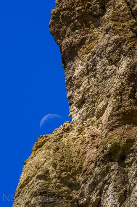 Moon at Smith Rock.
