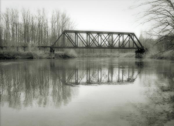 Train Tressle, Snoqualmie River, Washington State, 1996