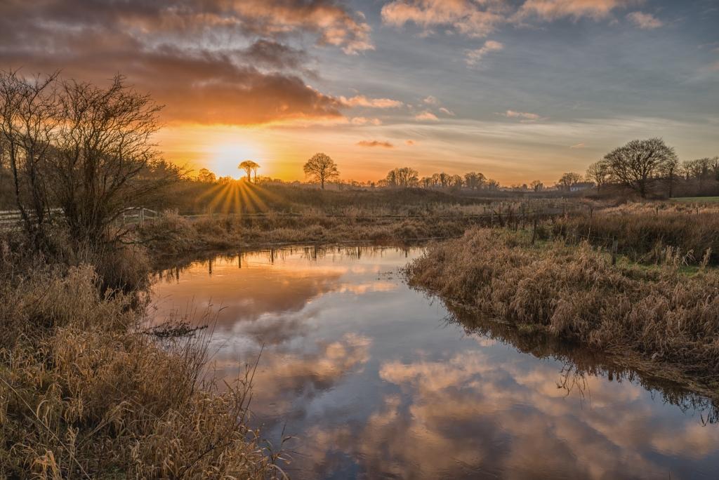Sunset on Castlebar River