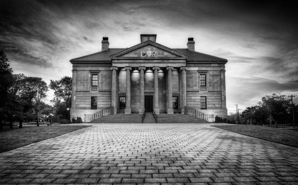 Colonial Building in Black & White
