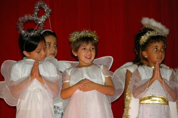 Angels at school Christmas pageant