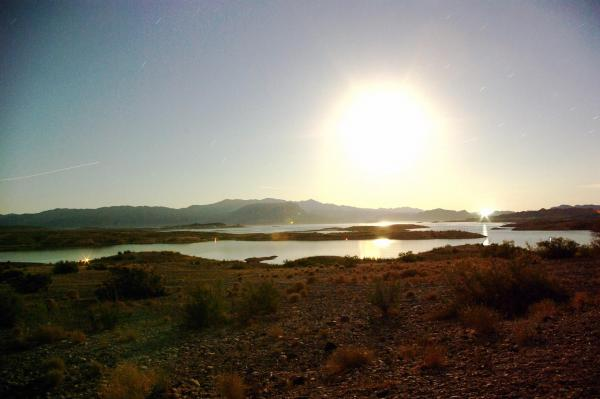 Moonrise Over Lake Mead