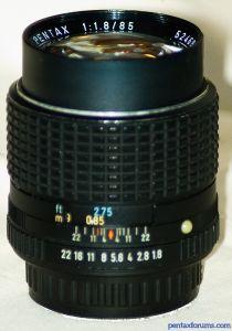 SMC Pentax 85mm F1.8