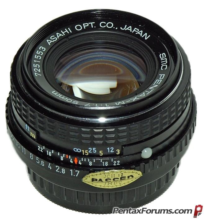 Pentax Legacy Lens 50mm F1.7