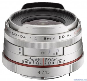 HD DA 15mm F4 Ltd. (Silver)