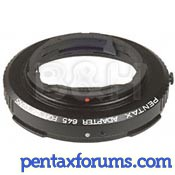 Pentax 67 Lens to Pentax 645 Body Adapter