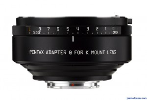 Pentax K  to Q Adapter Now Shipping