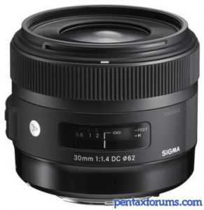 Sigma 30mm F1.4 DC HSM (Art)