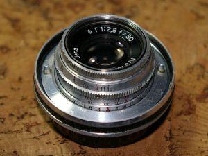 Carl Zeiss Jena Tessar (modified mount) 50mm F2.8 1Q 8 iris blades
