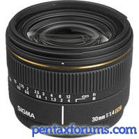 Sigma 30mm for Pentax